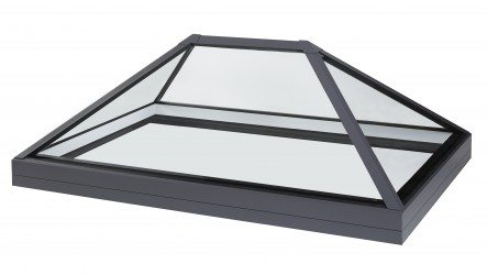 Roof lantern rooflight for flat roof applications.