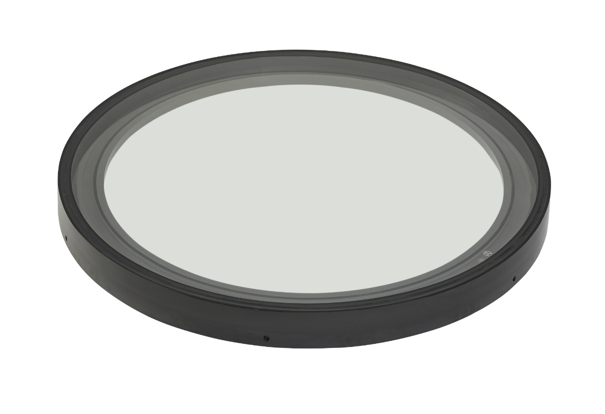 image of duplus circular rooflight for flat roof
