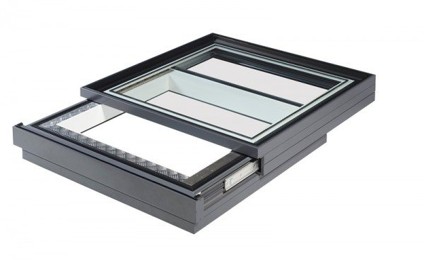 image of sliding skylight for a flat roof