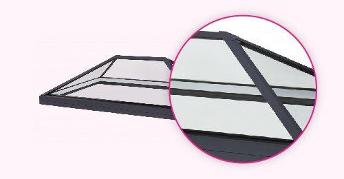 Frameless design detail