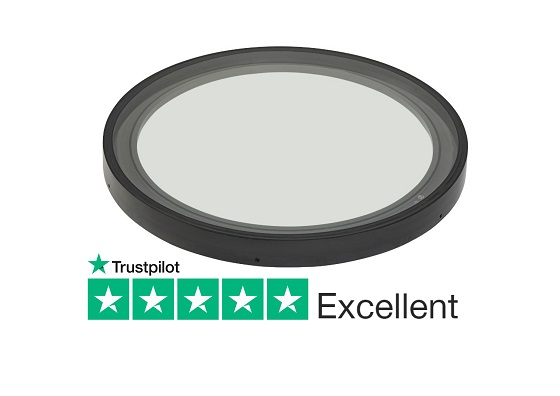 Circular rooflight for flat and pitched roofs