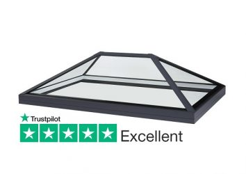 frameless low pitch roof lantern