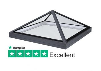 SB30 low pitch slimline lantern pyramid rooflight for flat roofs
