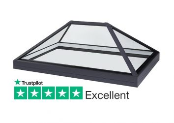 SB40 slimline lantern rooflight for flat roofs