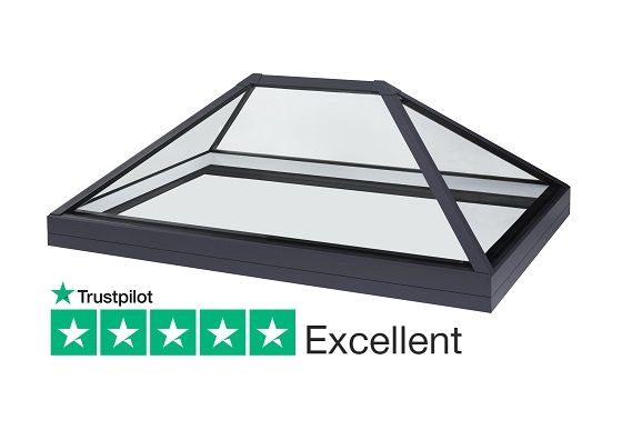 SB40 slimline lantern rooflight for flat roofs