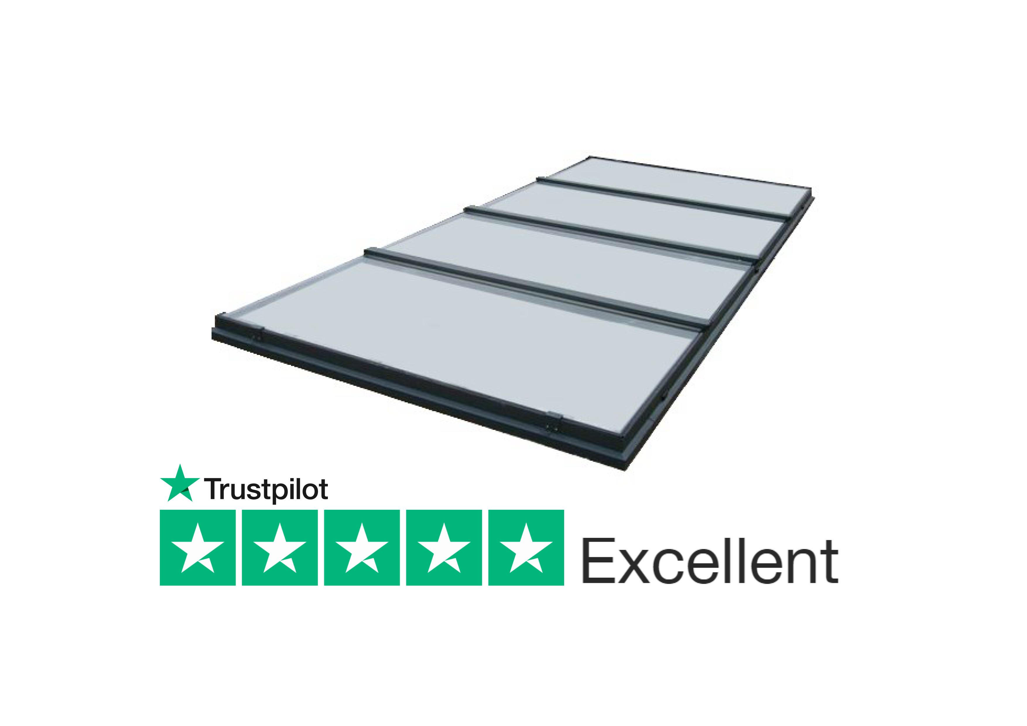continuous fixed skylight suitable for flat and pitched roof