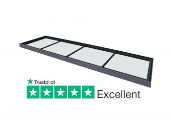 Duplus flush glazed fixed flat modular rooflight