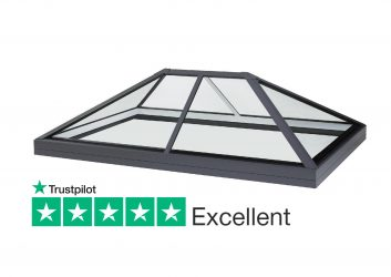 SB30 low pitch slimline lantern rooflight for flat roofs