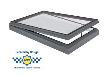 secure by design hinged opening rooflight