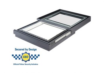 secure by design sliding opening rooflight