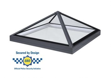 secure by design pyramid rooflight