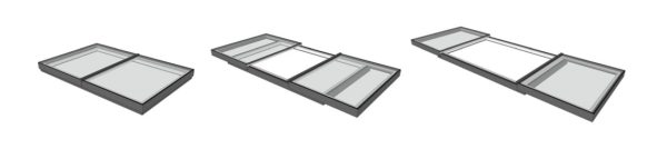 bi parting sliding rooflights for flat roof