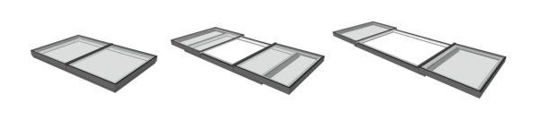 bi parting sliding rooflights for flat roof
