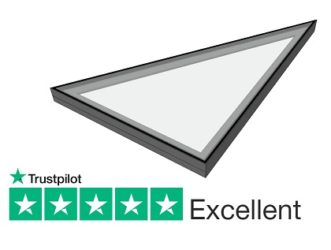 Triangular fixed rooflight