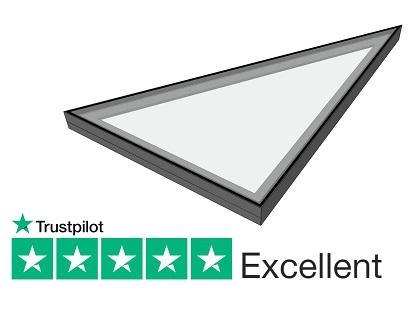 Triangular fixed rooflight