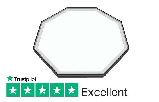 Octagonal fixed Rooflight