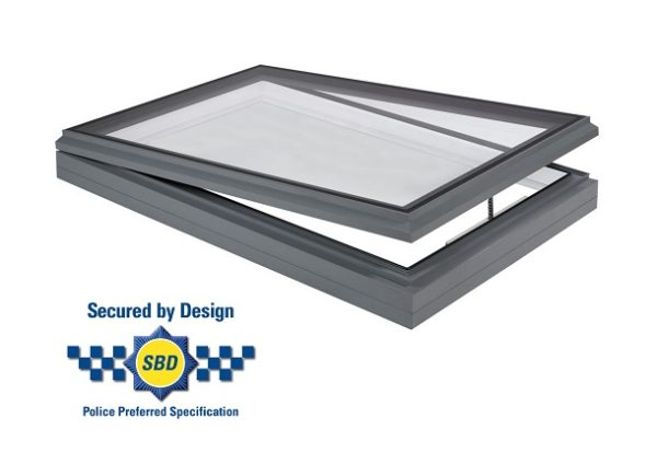 Secured by design hinged opening rooflight