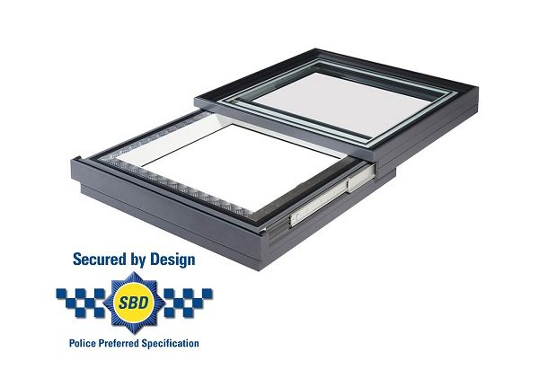 secured by design sliding rooflight